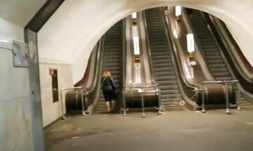 """Киевлянин избил женщину-полицейскую в метро, фото: """"перепрыгнул через турникет и..."""""""