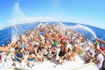 яхта, вечеринка