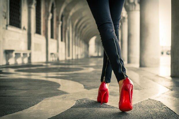 туфли, девушка
