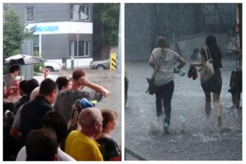 """Несчастье случилось с девушкой после потопа в Одессе, видео ЧП: """"провод упал в воду"""""""