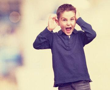 мальчик, удивлен, кричит, ребенок, школьник