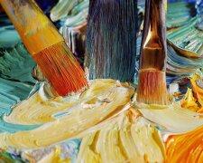 краски, кисти, художник, мурал