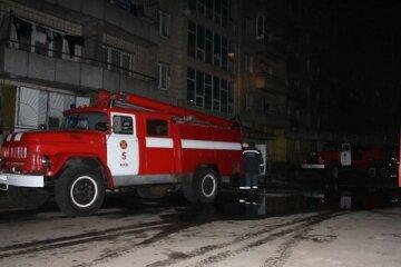 В Киеве загорелось общежитие, детей эвакуировали через окна (фото)