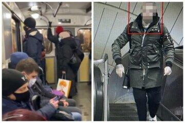 """На очах у пасажирів метро напали на киянку, фото: """"Вдарив і розмахував пістолетом"""""""