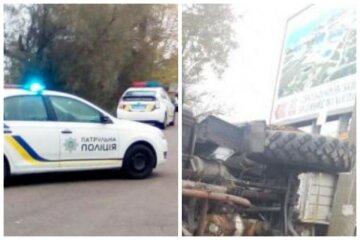 Вантажівка з військовими потрапила в ДТП на трасі Одеси, рух зупинено: фото і перші деталі аварії