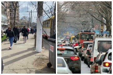 Ремонт дорог обернулся хаосом для Одессы, люди идут пешком: видео с места
