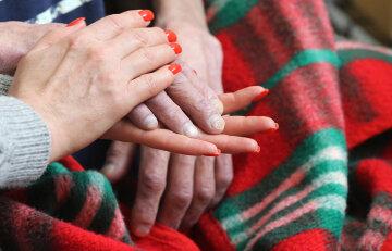 рак, онкология, больной, руки