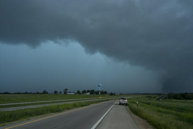 Тучи, шторм, погода, торнадо