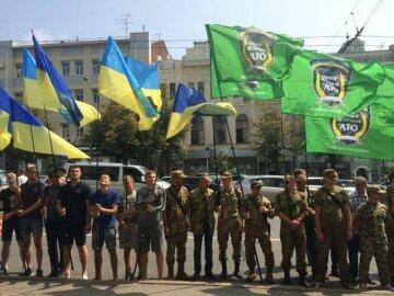 Ветерани АТО мітингують у Харкові (фото)