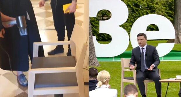 """Зеленському нагріли стілець феном за чотири зарплати лікаря, відео: """"Золотий унітаз не за горами"""""""