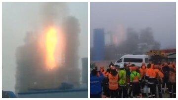 """Вибух прогримів на заводі """"Газпрому"""", стовп вогню до небес: подробиці і кадри серйозної НП"""