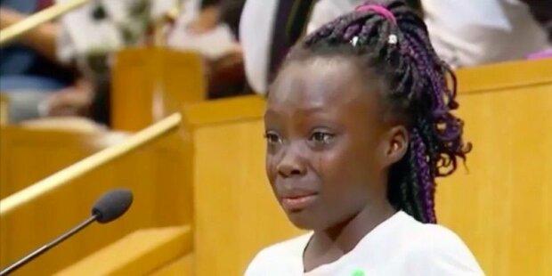 Юная американка произнесла трогательную речь о трагедии в Шарлотт (видео)