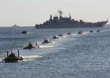 флот, море, корабли, десант