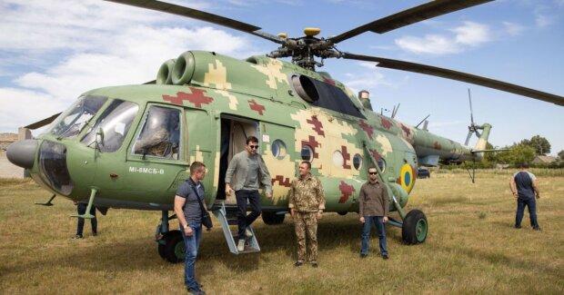 зеленский, вертолет