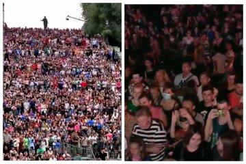 """""""Завтра будем в красной зоне"""": в сети показали, что творилось в центре Одессы на День города, видео"""