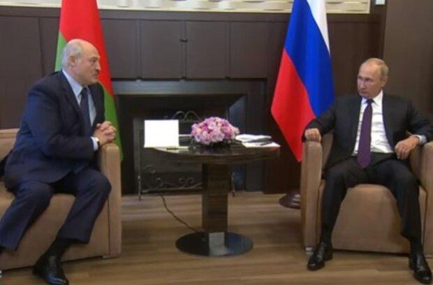 Володимир Путін і Олександр Лукашенко, скрін