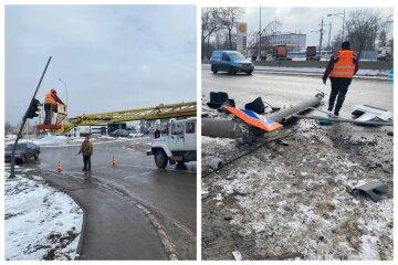 Водитель иномарки снес все на своем пути: кадры разрушительной аварии на въезде в Одессу