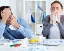 насморк мужчина и женщина болезнь грипп