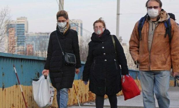 карантин, люди, маски