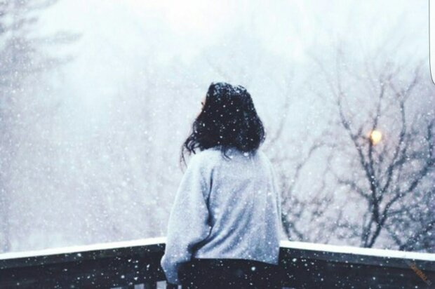одиночество, грусть, женщина, депрессия, зима