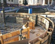 фонтан, строительство