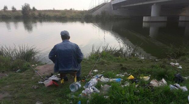 рыбаки, мусор