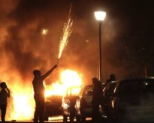 огонь стрельба протест бунт