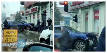 У Харкові машина на повному ходу влетіла в магазин: кадри з місця моторошної аварії