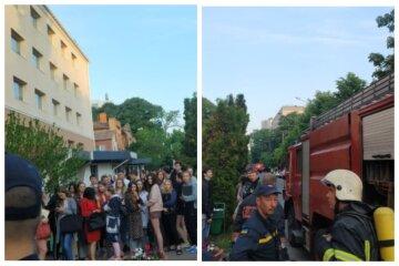 Началась срочная эвакуация: пожар разгорелся в студенческом общежитии Одессы, кадры ЧП