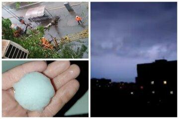 Шквалы, молнии и град с орех: украинцы оказались в плену стихии, видео непогоды