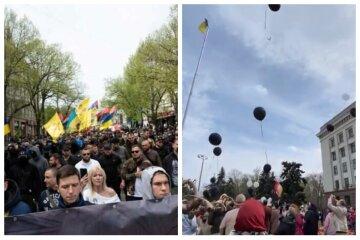 Чорні кулі і марш патріотів: як пройшов великодній день 2 травня в Одесі, відео