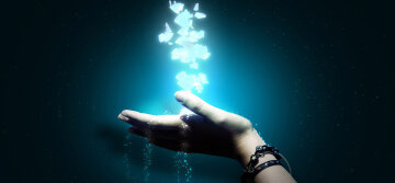 рука, свет в руке, магия