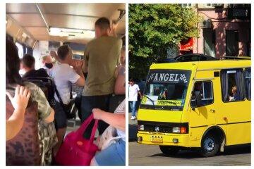 Пасажири влаштували заміс у маршрутці через сумку: відео бійки з Одеси