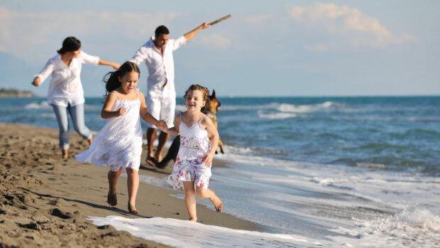 море, семья, дети, отдых