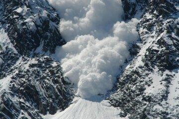 горы, лавина