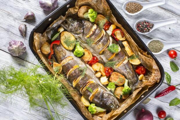 морская рыба, блюдо