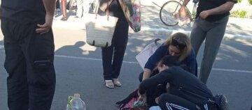 Сын полицейского сбил школьницу, девочка в коме: кадры из Одесской области