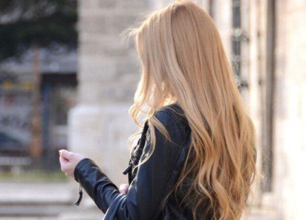 блондинка, волосы, сзади, без лица