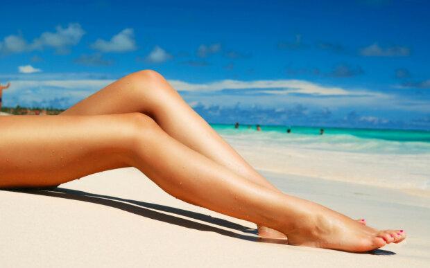 женщина, девушка, ноги, пляж