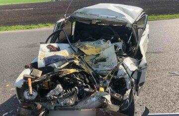 Под Харьковом авто всмятку разбилось о грузовик, выживших нет: кадры ДТП и что известно о жертвах