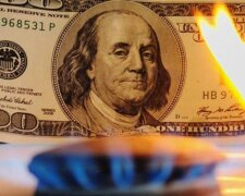 газ, доллар