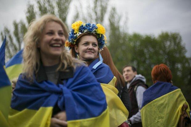 Украина флаг украинка украинцы