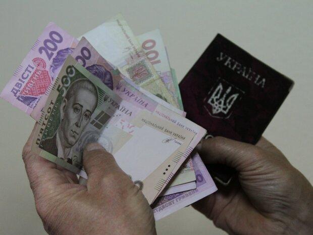пенсии в украине, деньги, гривны, выплаты