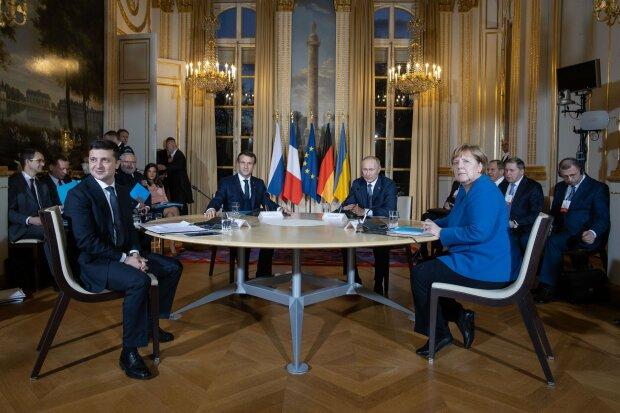 нормандская встреча, нормандский саммит, зеленский и путин в париже