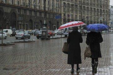 дождь, зонт, Почему в январе Украину заливают дожди
