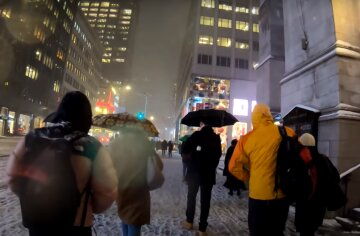 зима, люди, погода