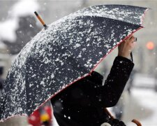 погода на сегодня, снег, зонт