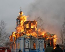 церковь, пожар, огонь