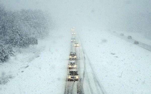 снегопад, зима