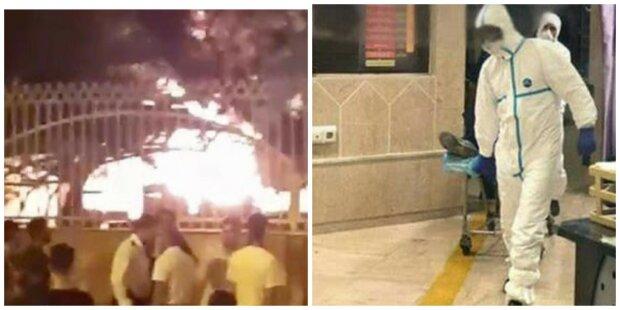 Ад Новых Санжар снова повторился, больницу с людьми подожгли, все в огне: кадры восстания